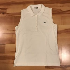 LACOSTE - Women's Sleeveless Polo - White